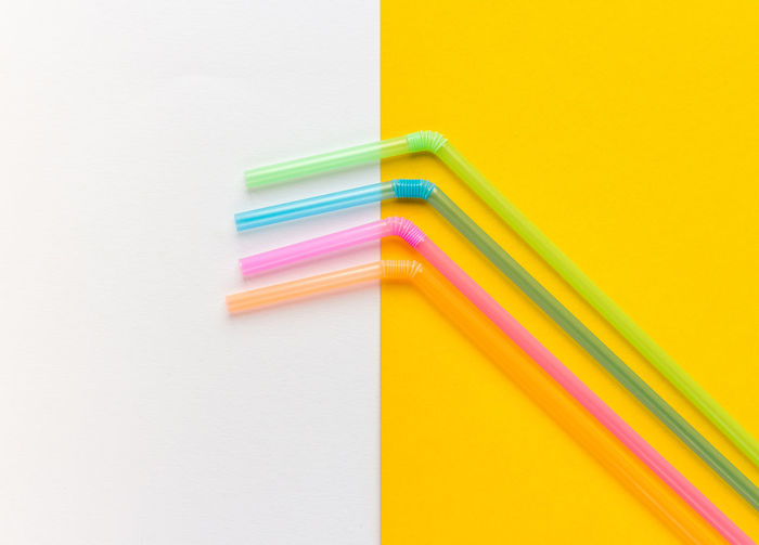 Choice Close-up Copy Space Drinking Straw Education Indoors  Multi Colored Neon No People Paper Pastel Publication Stack Still Life Straws Studio Shot Variation Wall - Building Feature White Background Yellow