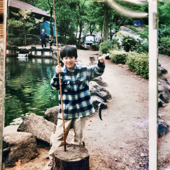 Boy Japan camping fishing ponds, trout fishing success is in photo with a smile. Boys Piano Moments Long Goodbye EyeEmNewHere Welcome To Black
