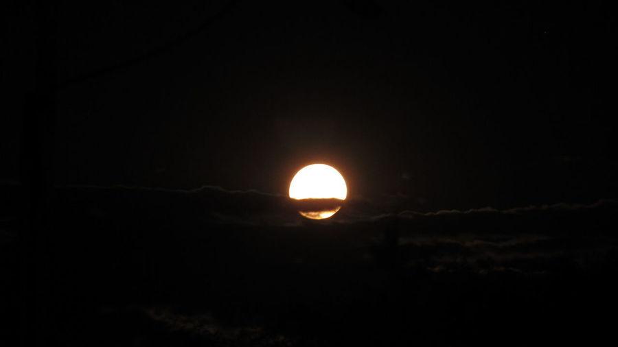 Luna 🌒 Astronomy Moon Sunset Illuminated Space Beauty Sky Landscape Close-up