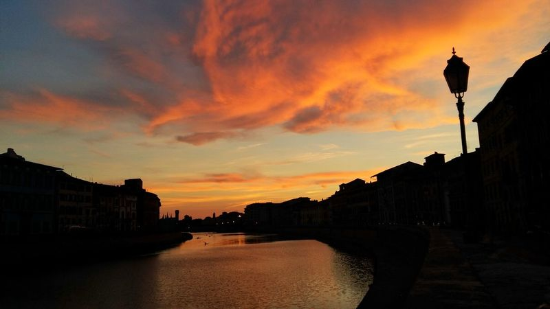 Sunset Travel Destinations Silhouette Pisa <3