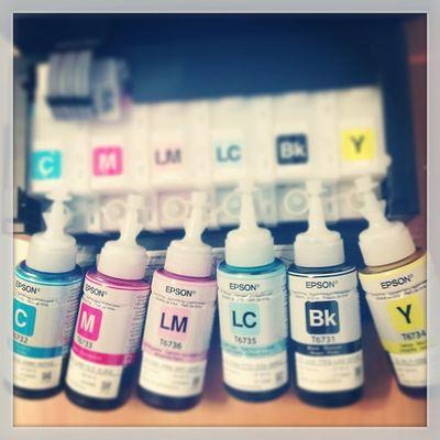 Да будет цвет! Epson L800 Color Rainbow ink bottle printer print service