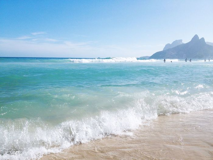 Breaking wave on ipanema beach