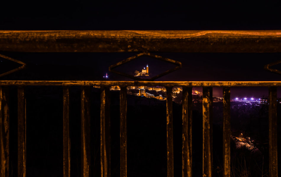 Architecture Colors Fence Frame Hanging Illuminated Lights Night Night Lights Night Photography Nightphotography No People Outdoors Throughmyeyes Tsarevets