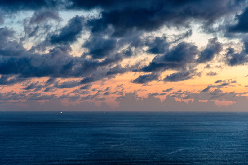 Sea clouds and sunset Sky Sea Horizon Water Cloud - Sky Horizon Over Water Beauty In Nature Scenics - Nature Tranquility Tranquil Scene Sunset Nature No People Idyllic Waterfront Freedom Outdoors Seascape Remote