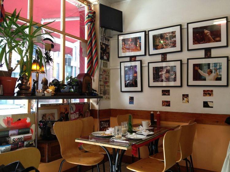 Fabulous funky little cafe near Old Street, next door to LSO home in St Luke's! Great coffee! Coffee Cafe Window London