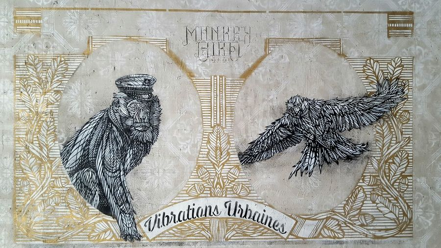 Street Art Graffiti Art Urban Exploration No People Handprint Monkey Bird Urban Vibrations Vibrations Urbaines Adapted To The City Bordeaux France