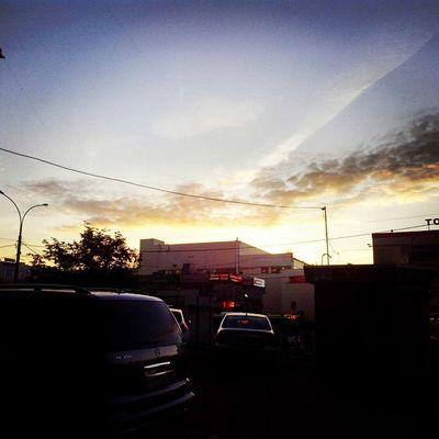 Очень красивый закат над любимым Отрадным ♥ отрадное свао солнце небо москва россия moscow russia svao sun sky beautiful