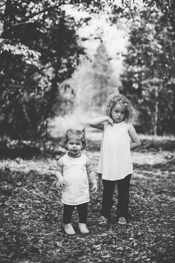 Sisters Child Full Length Girls Childhood Two People Children Only Tree People Outdoors Togetherness Day Nature Adult Resist