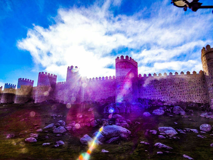 Avila Wall partially surrounds the Spanish town of Avila,Spain . This Spanish Arquitecture commands your attention as you near the Site Beautiful Colors Photooftheday Ronlouisphotos Old MedievalTown Medieval Architecture EyeEm Travel Photography Travel Spanishcountryside Europe Trip