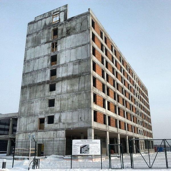 2014 -01, Новосибирск . Экспоцентр . гостиница строится / Novosibirsk. Expo centre. Building of hotel.
