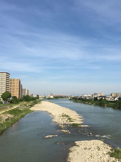Takarazuka Japan 武庫川 宝塚 On The Bridge Riverside Riverside Water Architecture Sky Cloud - Sky Building Exterior Built Structure City Nature No People Day Waterfront