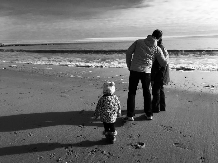 Beach Togetherness Walking Outdoors