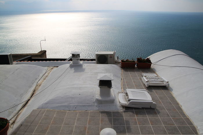 Amalfi Coast High Angle View Horizon Over Water Italy Roof Terrace Rooftop Rooftop View  Scenics Sea Tranquil Scene Tranquility Water