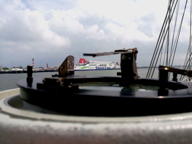 Stenaline Stena Line Ship Ships Ships⚓️⛵️🚢 Shipping  Shipping Docks Pelorus Pelorus Ship Water Waterfront Water Reflections Water_collection Watersurface Nautical Vessel Nautical Nautical Theme Nautical Equipment Check This Out Rotterdam Harbor Sea Netherlands Sailing Sailboat Compass