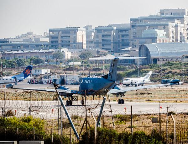 Beechcraft King Air Airport Airport Runway Aviation Aviationphotography Beechcraft Flight Israeli Air Force King Air View