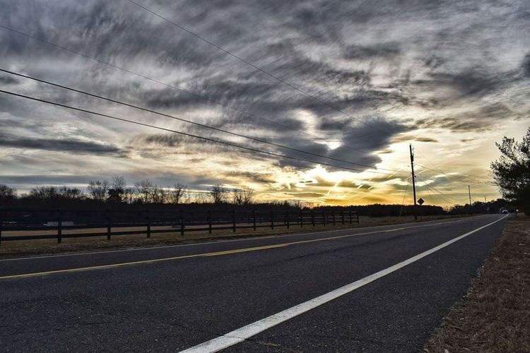 On the way to Atlantic City Road Dramatic Sky Cloud - Sky Power Line  Cable Electricity Pylon Storm Cloud No People Outdoors Sky Day Road Side View Roadtrip Road Trip Roadside Roadside America Roadway Roadandscenery Roadscenes Roadsidephotography Evening Evening Sky Evening Sun Dusk Dusk Colours dusk