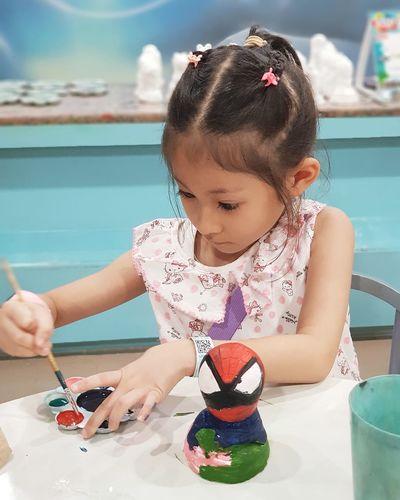 Cute Girl Painting Art Product