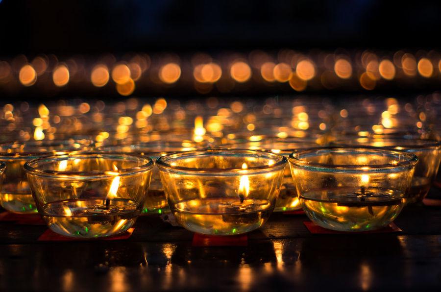 candle light at Wat Thawornwararam, Kanchanaburi, Thailand Candle Frame Illuminated Light No People Place Of Worship Relaxing Religion Spiritual Spirituality Thailand Wat Thawornwararam วัดถาวรวราราม