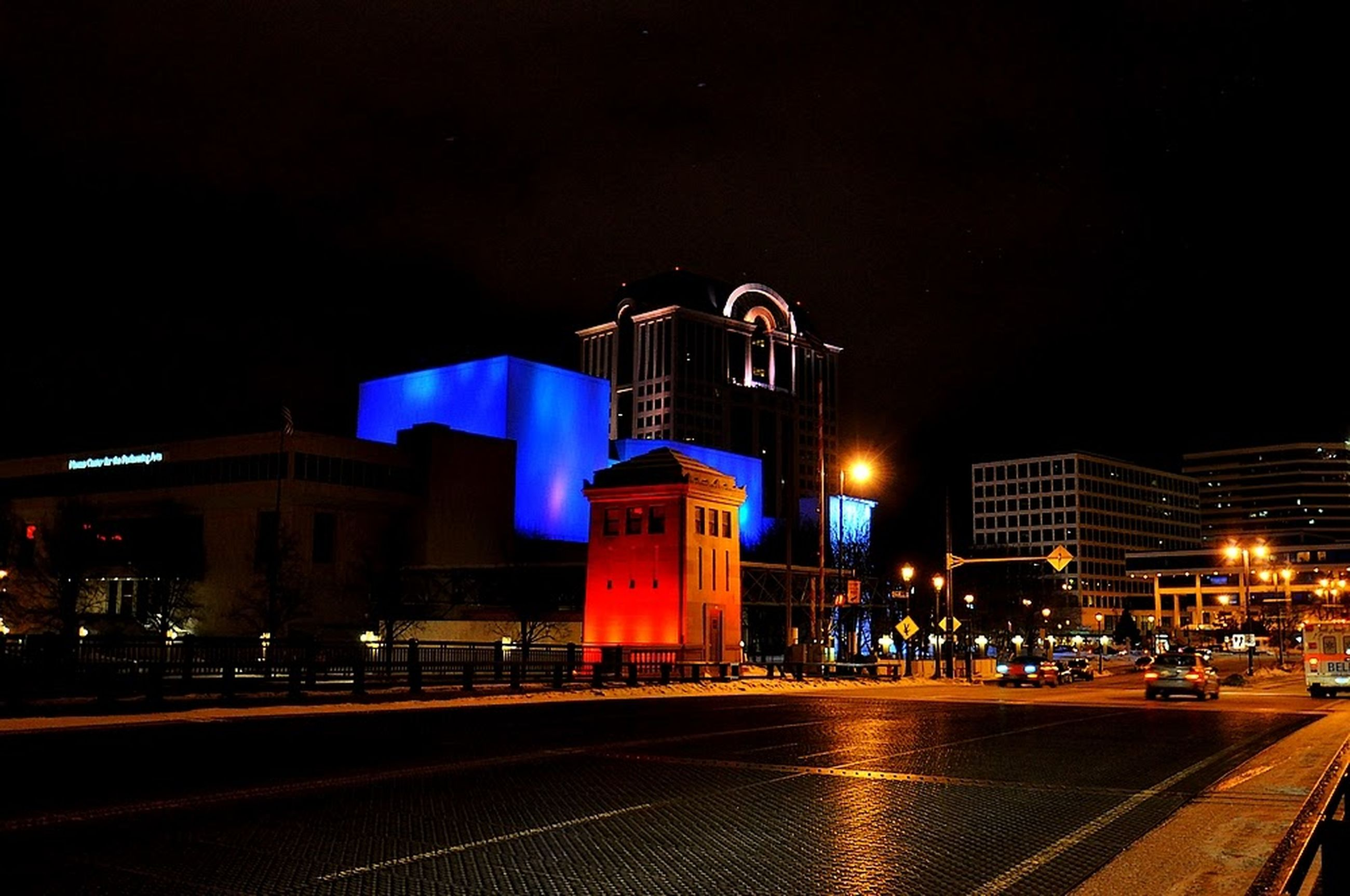 night, illuminated, building exterior, architecture, built structure, sky, street light, outdoors, city, no people