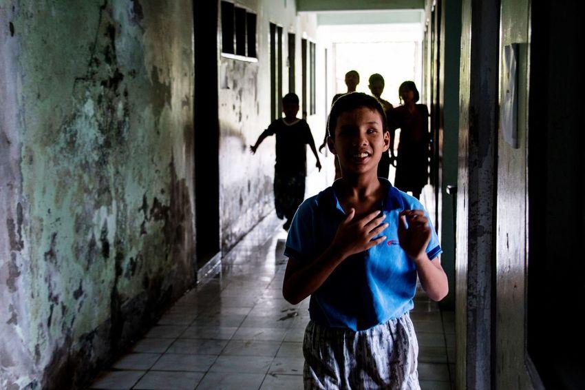 Children of the dark Creative Light And Shadow Myanmar Rangoon Street Photography Blind School