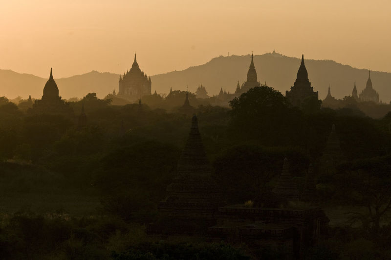 Ancient Architecture Bagan Beauty In Nature Built Structure Check This Out Cultures Famous Place Myanmar No People Outdoors Place Of Worship Religion Scenics Sky Spirituality Stupa Sunset Sunshine Temple - Building The Great Outdoors - 2016 EyeEm Awards Tourism Tranquil Scene Tranquility Travel Destinations