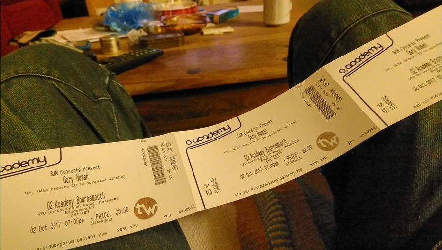 Gigs And Parties Gary Numan Close-up Party Time Old School Numanoids Indoors  Paper No People Day