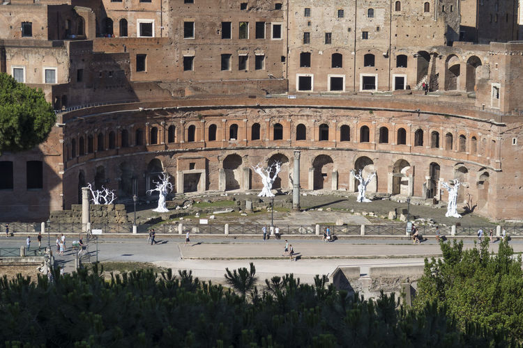 High angle view of trajans forum