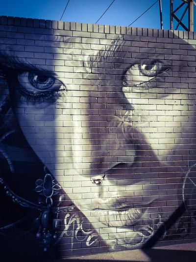 Photographic Approximation Streetart/graffiti stare back at you... Stare Back At You...