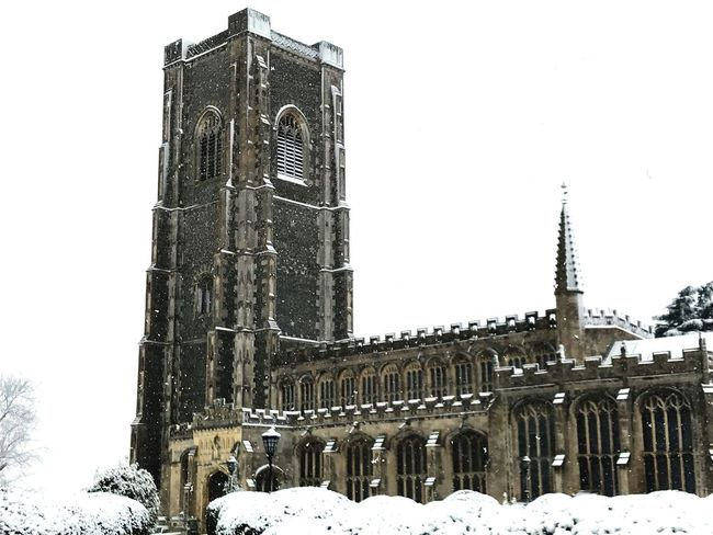 Winter Architecture Religion Place Of Worship Outdoors No People Church Lavenham