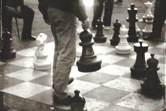 Chess anyone? Chess Chess Piece Chess Board Strategy Leisure Games Leisure Activity Competition Geneva Switzerland Big Fun Blackandwhite Black And White Monochrome Bnw