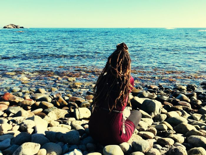 Be in peace with yourself ❣️ My Best Photo Dreadlocks Cabo De Gata Dreads Water Sea Sky Horizon Horizon Over Water Land Beach Scenics - Nature Nature Rock Tranquility Outdoors Beauty In Nature Dreadhead