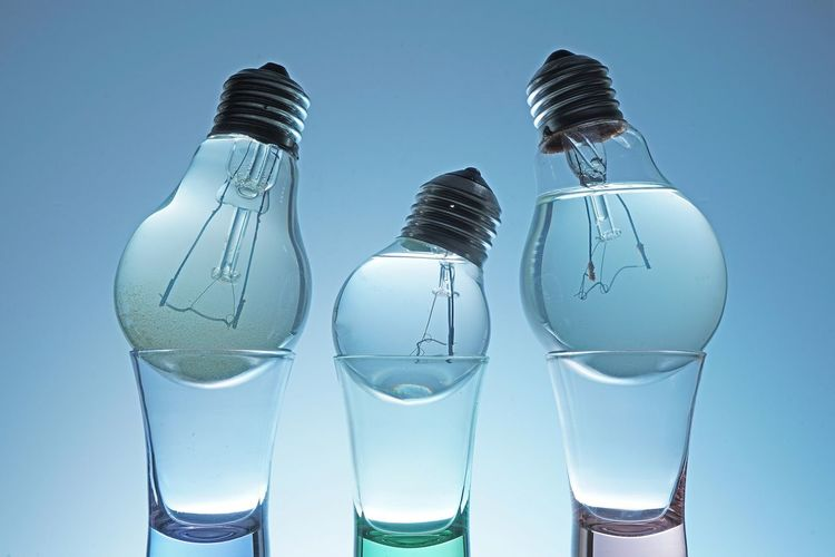 Electric Bulb Filled With Water