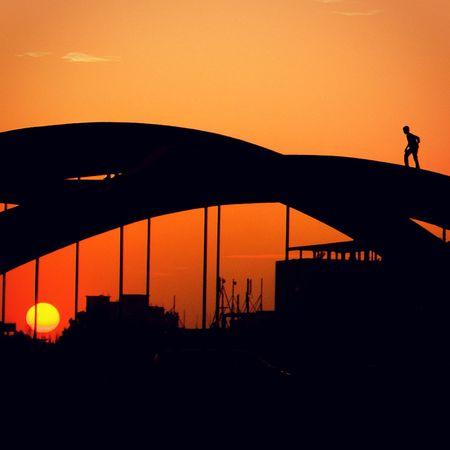 Cityscape Sunset Sun Urban Escape