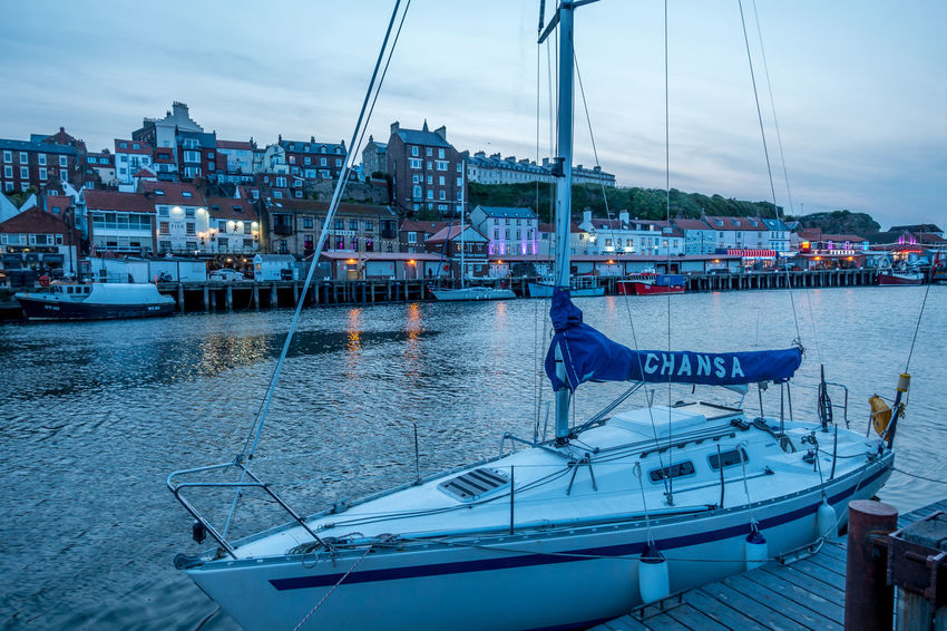 Whitby Whitby Harbour Whitby View Whitby North Yorkshire North Yorkshire North Yorkshire Coast Seaside Seaside Town Coastal Yacht Mast Sea Harbor Moored Water Nautical Vessel Boat Boating Transportation Travel Outdoors Sailboat Mode Of Transportation Cloud - Sky Sky