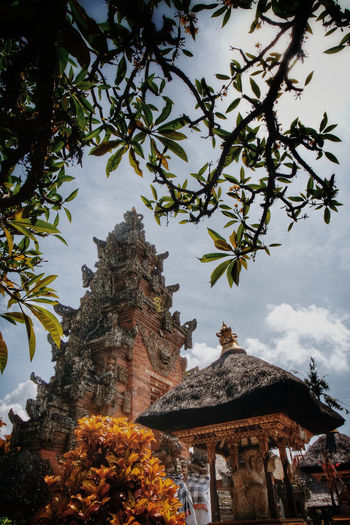Tree No People Low Angle View Vertical Sky Branch Outdoors Architecture Day Bali Hindu Temple Religion