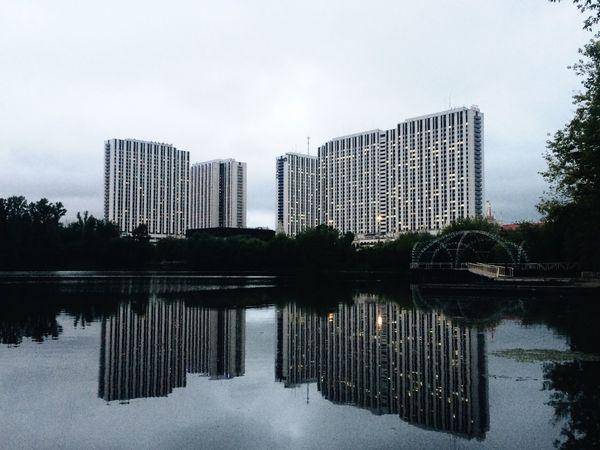 Water City Modern Built Structure Sky Tall - High