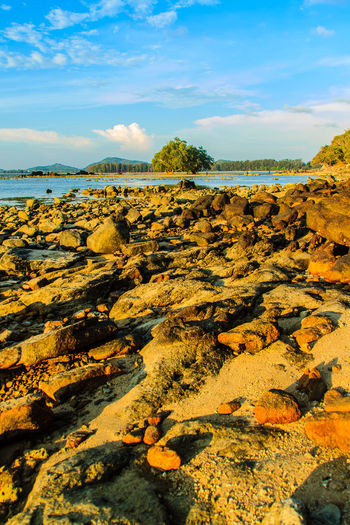 Lonely remote island with rock beach. Beautiful rocky coastline with full of stones on the beach when the sea water receded with dramatic blue sky background on the cloudy day. Coastline Coastline Landscape Coastline Nature Water Lonely Lonely Island Lonely Place  Peaceful View Rock Beach Sea Rocky Beach Rocky Coastline Rocky Shore Beach Beauty In Nature Cloud - Sky Coastline Sky Day Landscape Lonelyplanet Nature No People Outdoors Peaceful Peaceful Nature Peaceful Place Rock - Object Rock Beach Rocky Coast Rocky Landscape Scenics Sea Sky Tranquil Scene Tranquility Water