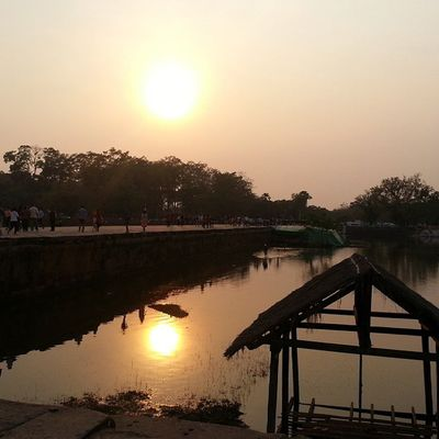 Sunset view from Angkor Wat. Lovesunsets Sunset Angkorwat Love Wanderkat Siemreap Cambodia Katssunset