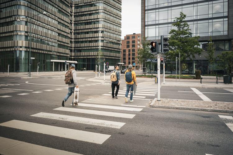 People crossing road
