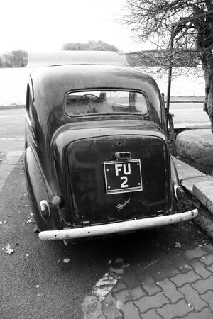 Old Times... Road Signs At The Road Black And White Close-up Day Funny Signs Historical Cars Monochrome Nature No People Oldtimer Outdoors Street History EyeEmNewHere