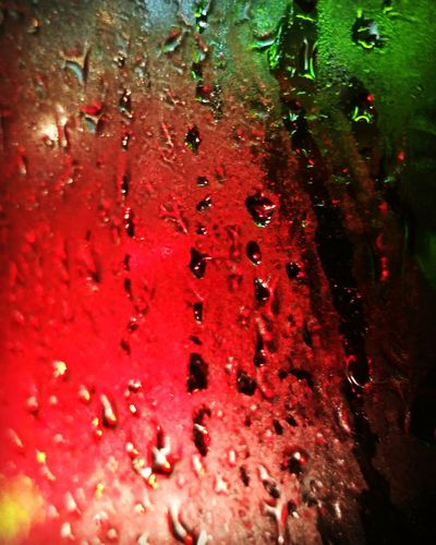 The Week On EyeEm Red Water Drop Full Frame No People Outdoors Backgrounds Freshness Close-up Rain On Car Window Mix Yourself A Good Time