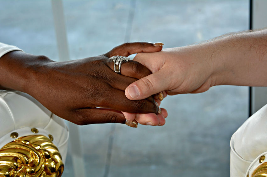 Holding Hands Adult Close-up Human Body Part Human Hand Life Events Multi Cultural Multi Racial People Real People Ring Togetherness Two People Wedding A New Beginning Moments Of Happiness
