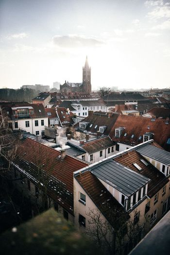 - Potsdam from above - View Church Morning Light Morning Sunrise Architecture Building Exterior Built Structure Roof High Angle View Cityscape Mobility In Mega Cities Sky Day Cloud - Sky City No People Residential Building Outdoors Mobility In Mega Cities