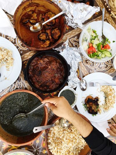 Aswan, Egypt Food And Drink Human Hand High Angle View Bowl Freshness Close-up Egyptian Cuisine