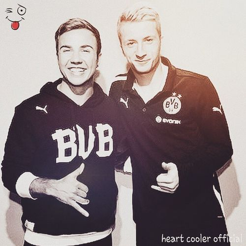 marco reus and mario gotze Marco_reus Mario_gotze Best_mates Black_white bvb09 bvbfollows footballlife footballfan Follow @heart_cooler Follow @swag__ihfmc Follow @farhanfazal_11