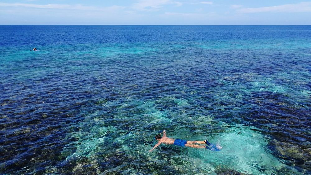 snorkeling Snorkeling Dive Water Sea Leisure Activity High Angle View Beauty In Nature Day Nature Lifestyles Vacations Scenics Outdoors Blue Horizon Over Water Relaxation