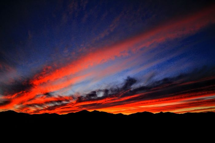 Oquirrh Sunset, West Jordan, Utah...10/04/2017. Dramatic Sky Sunset Beauty In Nature Scenics Nature No People Outdoors Tranquil Scene Landscape Multi Colored Sky Night Lava Power In Nature
