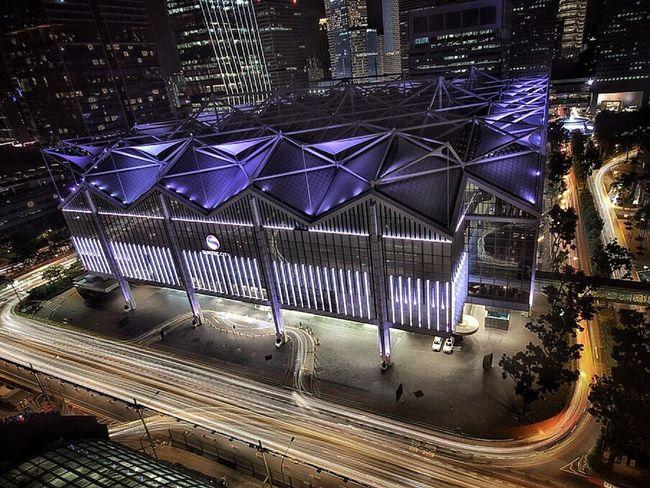 The Week On EyeEm Eyeem Singapore Architecture Illuminated High Angle View Madewithoowa EyeEm Selects Shot On IPhone 6s Travel Destinations Light Trail Built Structure