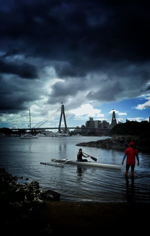 Rowing Sydney harbour Sydney Sydneyharbour ANZAC Bridge