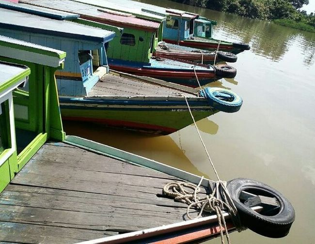 Water Transfort In South Borneo Indonesia